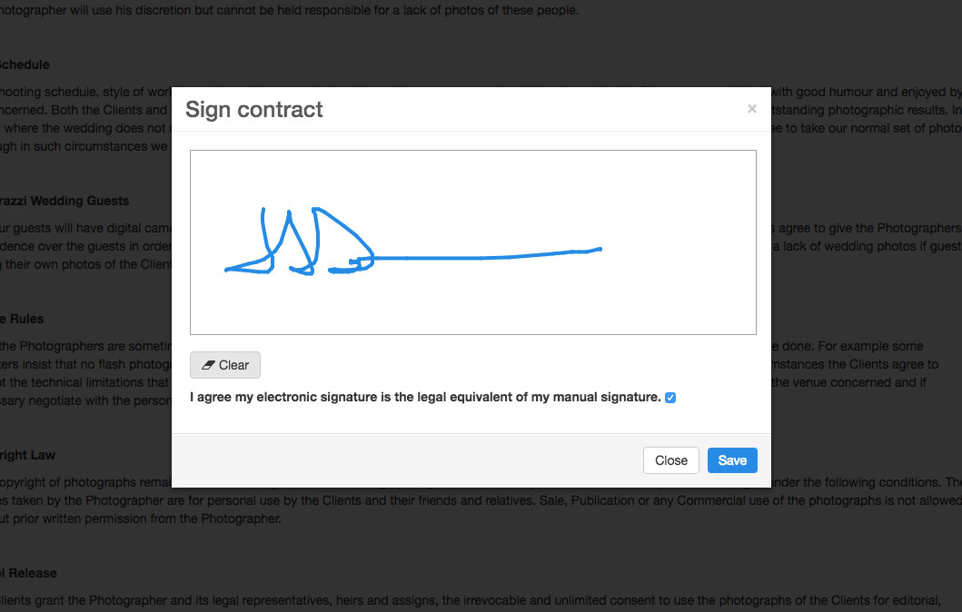 Enter tags into contract template